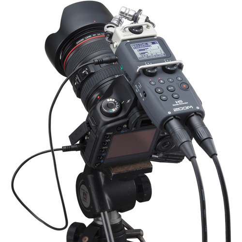 how to connect a zoom h6n to a mixer
